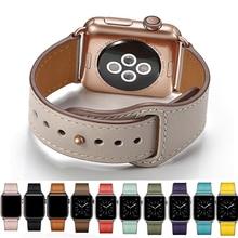 רצועת רצועת עור אמיתית עבור אפל שעון 42mm 44mm , VIOTOO אביזרי שעון עור רצועת השעון רצועת עבור iWatch צמיד