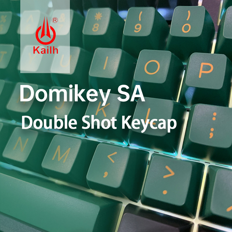 Kailh&Domikey Seals SA Profile DOLCH Double shot ABS keycaps for MX switch Gaming mechanical keyboard set 158 keycaps