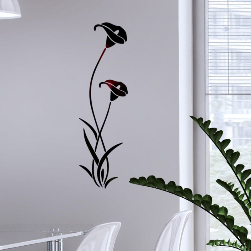 3D DIY Blume Form Acryl Wand Aufkleber Moderne Dekoration Wohnzimmer Abnehmbare Wandbild Tapete Kunst Abziehbilder - 4