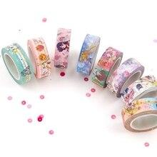 Paper-Tape Cat Washi Sailor Moon Cartoon Label Sticker Diy Scrapbooking Girl