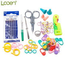 67Pcs household sewing accessories crochet crafts kit accessory double boxed knitting supplies craft
