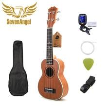 SevenAngel – Ukulele Soprano 21 pouces, 4 cordes, Mini guitare, 15 frettes, Hawaii, bouton fermé, vente en gros, livraison directe