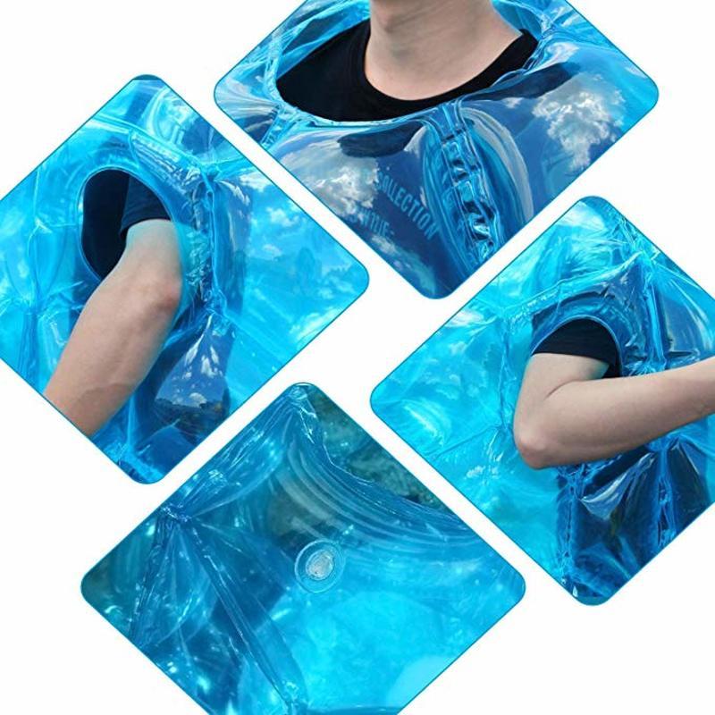 Boules de Zorb de butoir portatif gonflable de copain de 90cm résistantes boules de football durables de bulle de PVC Viny jeu extérieur pour des enfants jouent l'amusement - 3