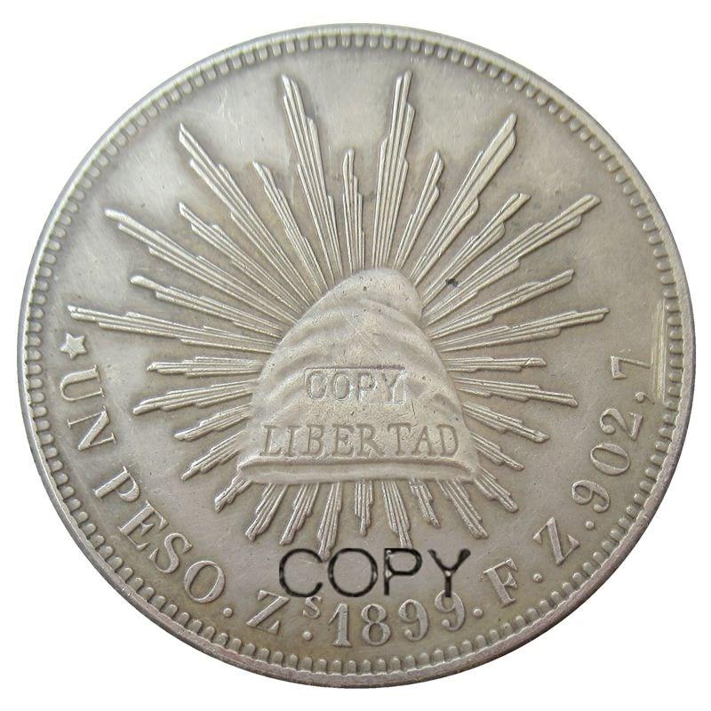 60PCS Pro Los Mexiko 1 Peso 1899 Silber Überzogene Münzen Kopieren-in Nichtwährungs-Münzen aus Heim und Garten bei  Gruppe 1