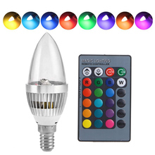 E12/E14 RGB Magic LED Bulb Changing 16Color AC85-265V Lamp Spotlight+IR Remote Bulbs Decor For Home Party KTV D40