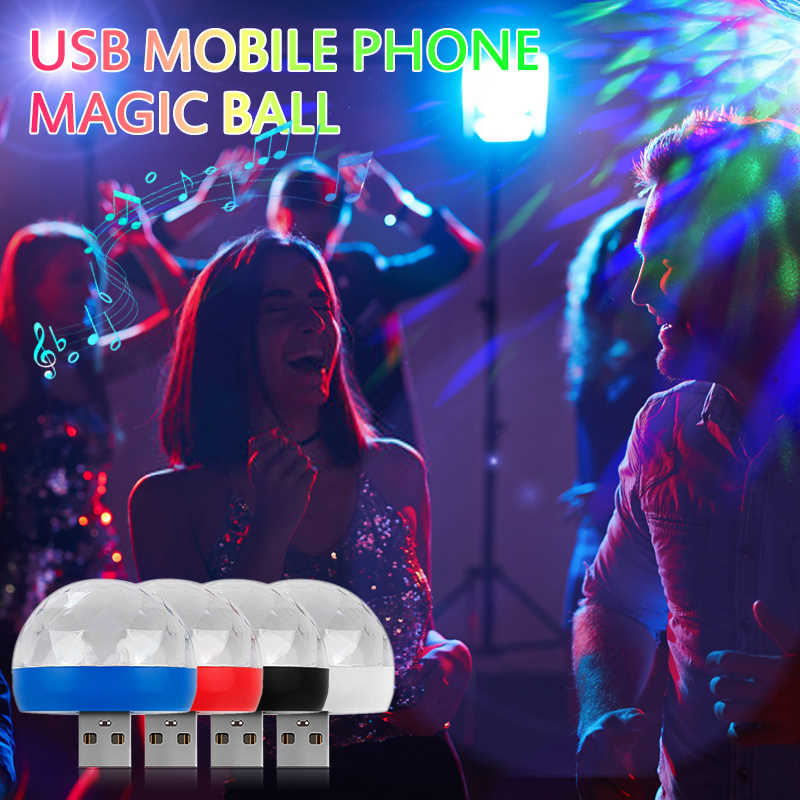 Mini USB FÜHRTE Disco Bühne Licht Tragbare Familie Neon Party Magic Ball Bunte Licht Bar Club Bühne Wirkung Lampe Für handy