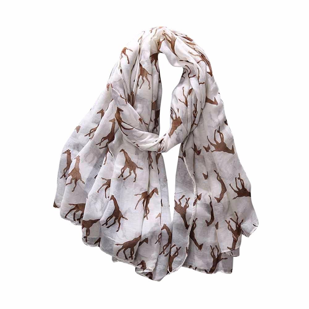 Floral Print Retro Head Neck Silk Satin   Scarf   Thin Shawls Elegant Women Ladies Giraffe Print Pattern Long   Scarf   Warm   Wrap   Shawl
