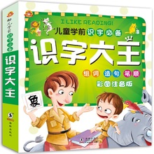 1000 word children's preschool reading literacy books 3-7 years old baby learn Chinese characters Pinyin literacy king books
