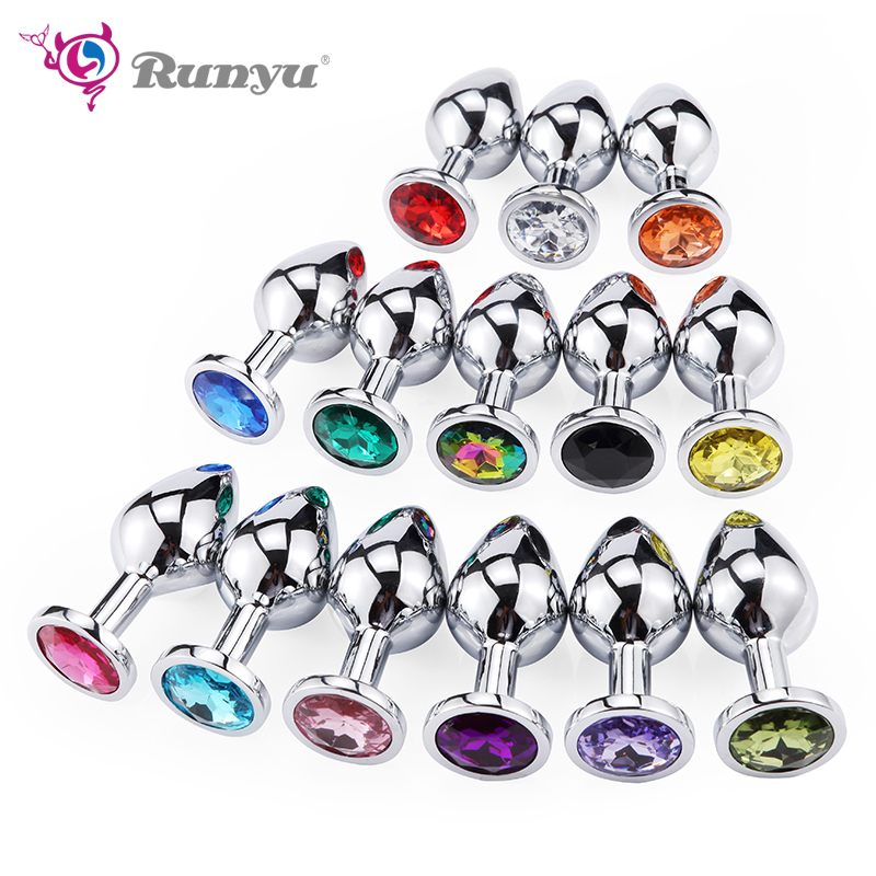Intimate Metal Anal Plug With Crystal Jewelry Smooth Touch Butt Plug No Vibrator Anal Bead Anus Dilator Anal Toys For Men Women