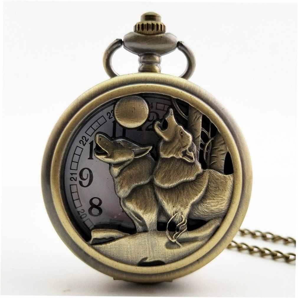 Nouveau zodiaque chinois Vintage Antique Quartz montre de poche collier pendentif horloge pour hommes femmes meilleurs cadeaux
