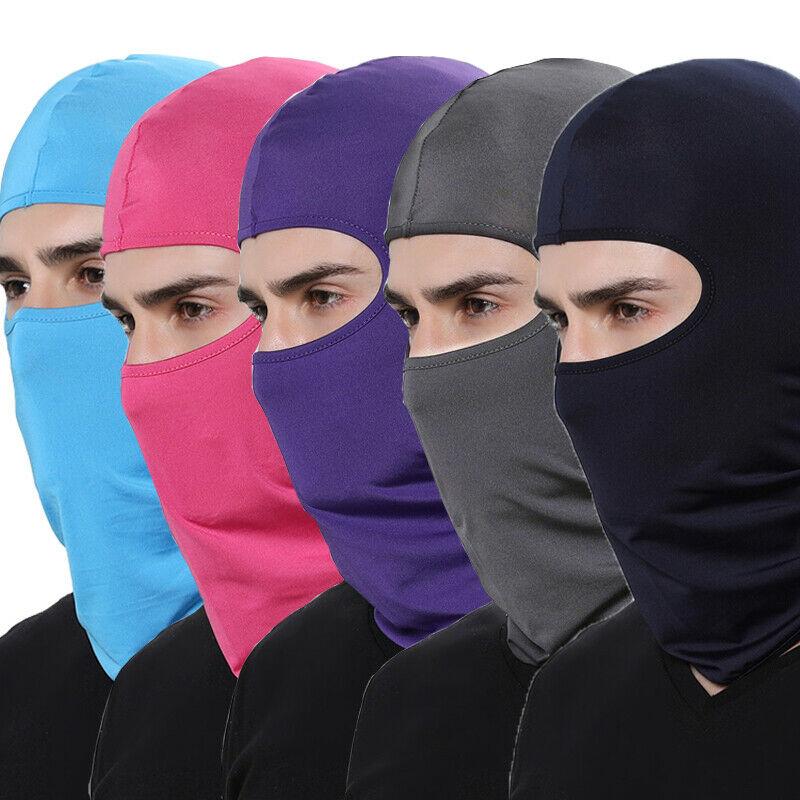 Motorcycle Face Mask Cycling Balaclava Full Cover Face Mask Hat Balaclava lycra Ski Neck Summer Sun Ultra UV Protection Thin Hot