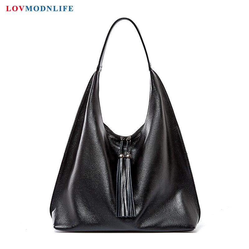 Luxury Womens Bags Handbags Big Designer Shoulder Bags Tassel Black Woman Summer Bag Large Genuine Leather High Quality 2020 New