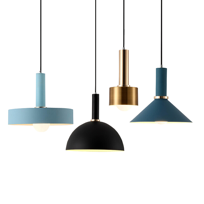 Nordic Macarons pendant lights Modern bedroom bedside dining room Pendant lamp Bar cafe individual creative lighting fixtures