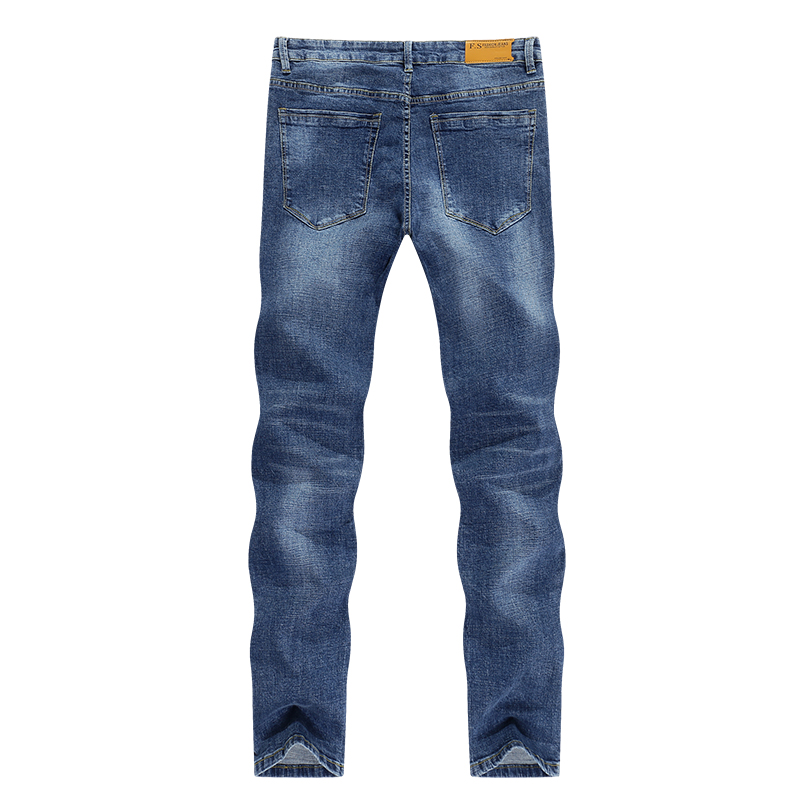 KSTUN Mens Denim Jeans Light Blue 2020 Spring Business Casual Straight Slim Stretch Streetwear Denim Pants Cowboys High Quality 10