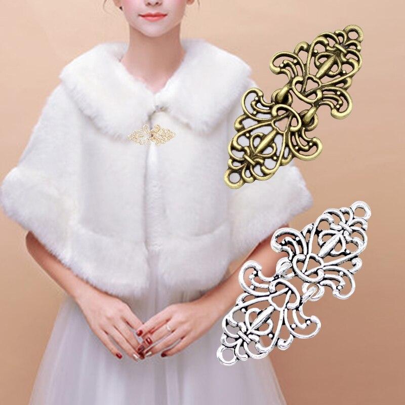 Женский Ретро кардиган с зажимом для утки шаль-блузка, винтажный свитер с воротником и шарфом брошь с застежкой Pin, ювелирные аксессуары
