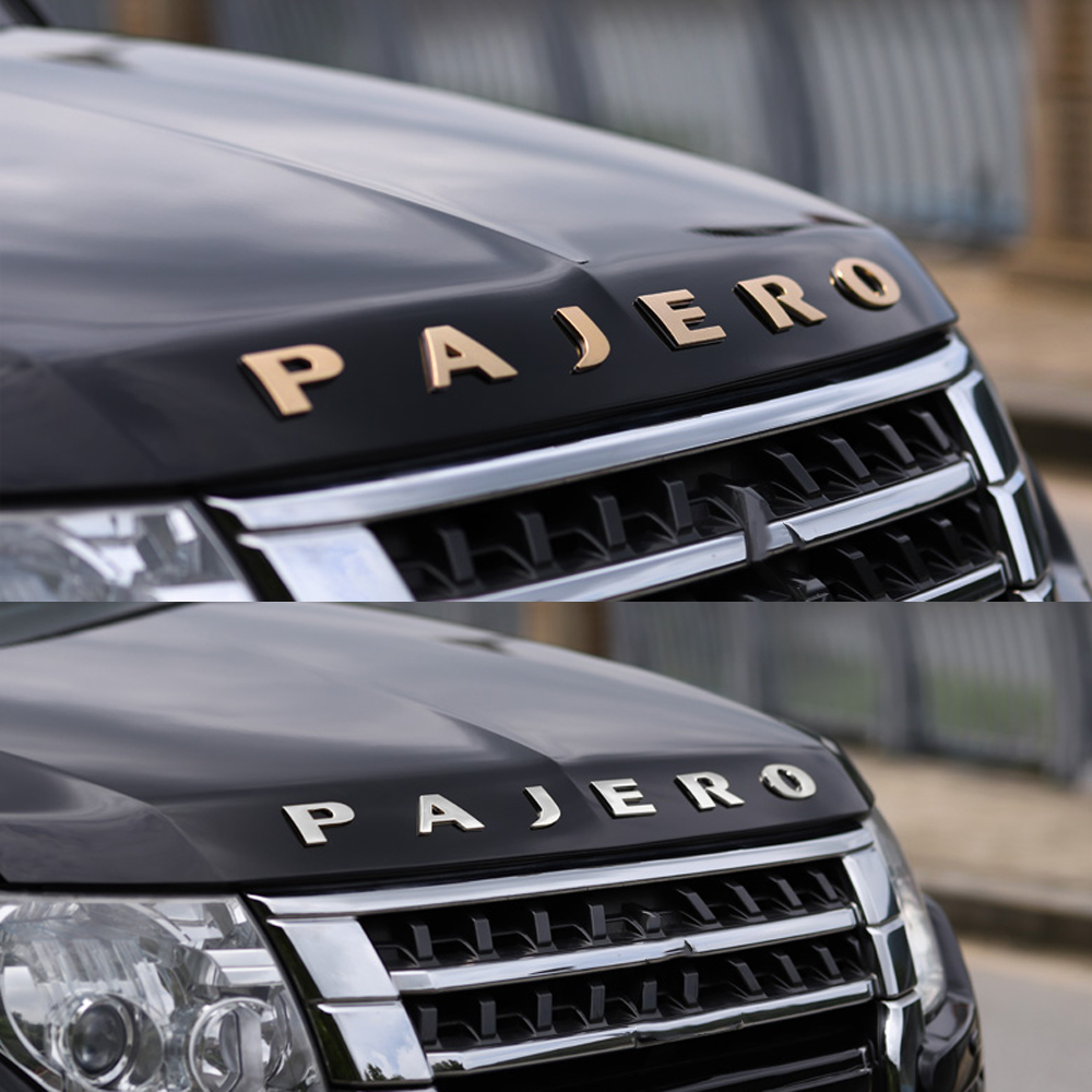 Наклейка PAJERO для Mitsubishi PAJERO V73, V93, V97, V31, V32, V33, V34, Спортивная эмблема PAJERO, наклейка с эмблемой, наклейка с автонастройкой капюшона