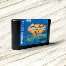 Animaniacs eur etiqueta flashkit md electroless ouro pcb cartão para sega genesis megadrive video game console