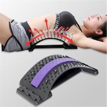 Masaż pleców sprzęt do noszenia Massageador magiczne wsparcie Stretch Fitness relaks ból kręgosłupa lędźwiowy powrót nosze
