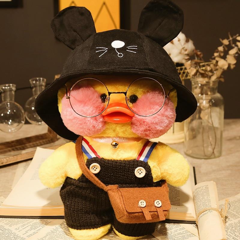 Милые плюшевые игрушки, Желтая утка, 30 см, маленькая желтая утка с гиалуроновой кислотой, мягкие игрушки, подарки на день рождения для девоче...
