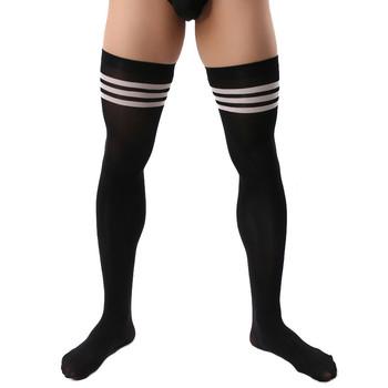 Podkolanówki sukienka skarpetki prezenty dla mężczyzn egzotyczna formalna odzież garnitur mężczyźni Sexy sport Stocking strój biznesowy skarpety formalne męskie pończochy tanie i dobre opinie lmigliore NYLON Załoga Cienkie