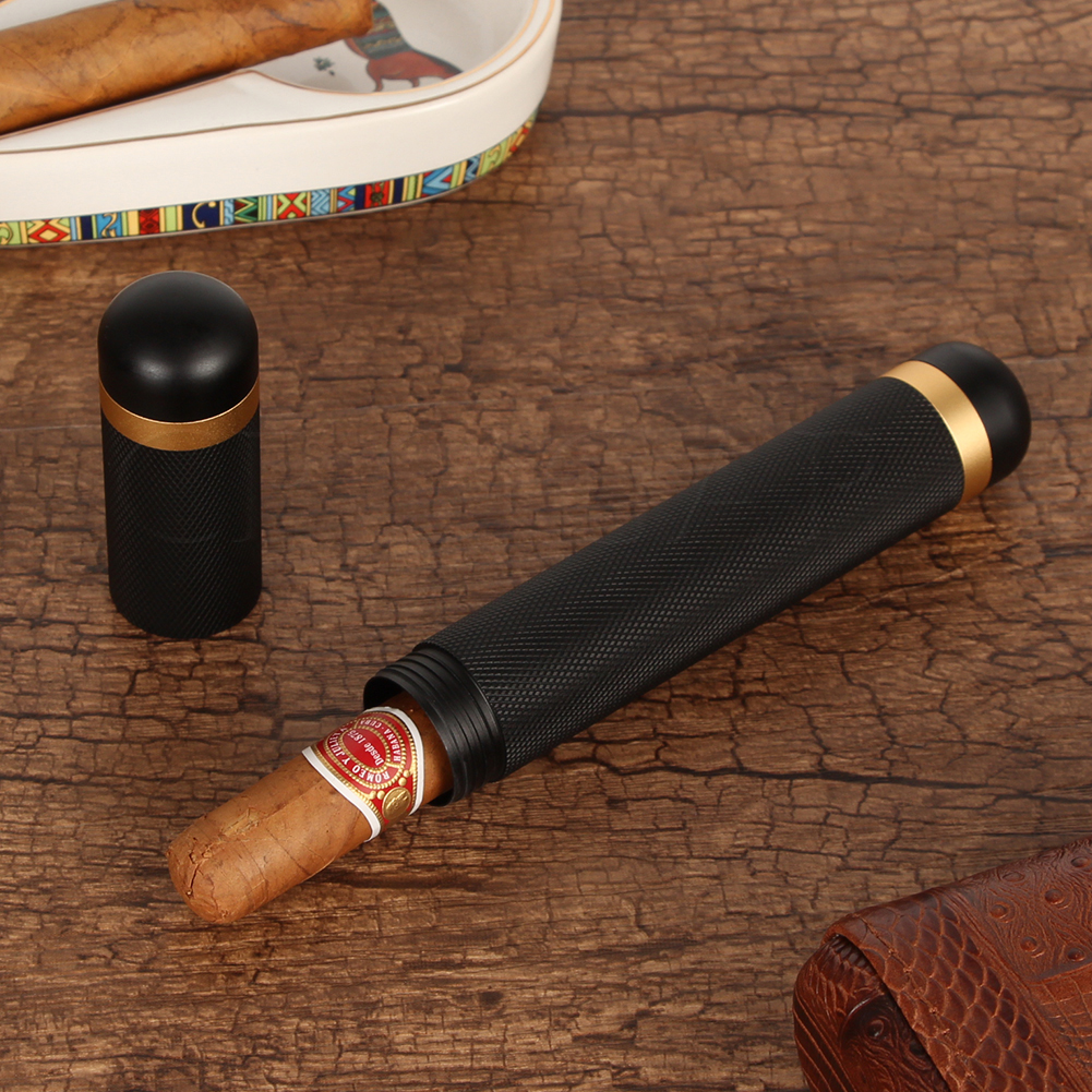 GALINER Mini Pocket Cigar Tube Jar 1 Holder Travel Humidor Box Portable Storage Cigar Accessories Fit Cuba Cigars