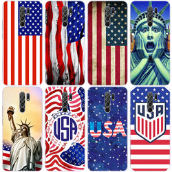 America USA Flag Silicone Phone Case for Xiaomi Redmi Note 9 Pro Max 9S 8T 8 8A 9 9A T 9C K30 Ultra K30i 10X Pro 5G Soft Cover