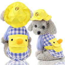 Clothing Puppy-Suit Pet-Hat Dogs Chihuahua Yellow for Small Cats Yorkies Duck-Shape Little