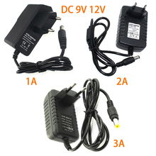 цена на AC 110-240V DC 9V 12V 1A 2A 3A Power Adapter Supply 9V 12V Power Supply 5.5*2.5 220V to 12V EU US Plug For Led Strip Lamp
