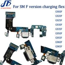 10 stücke USB Lade Dock Connector Flex Kabel Für S5 S6 S7edge S8 S9 Plus G920F G925F G925i G930F G935F g950F G955F G960F G965F