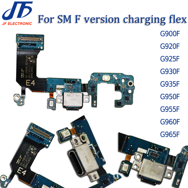 10pcs USB ชาร์จ Dock Connector สายเคเบิล Flex สำหรับ S5 S6 S7edge S8 S9 PLUS G920F G925F G925i G930F G935F g950F G955F G960F G965F