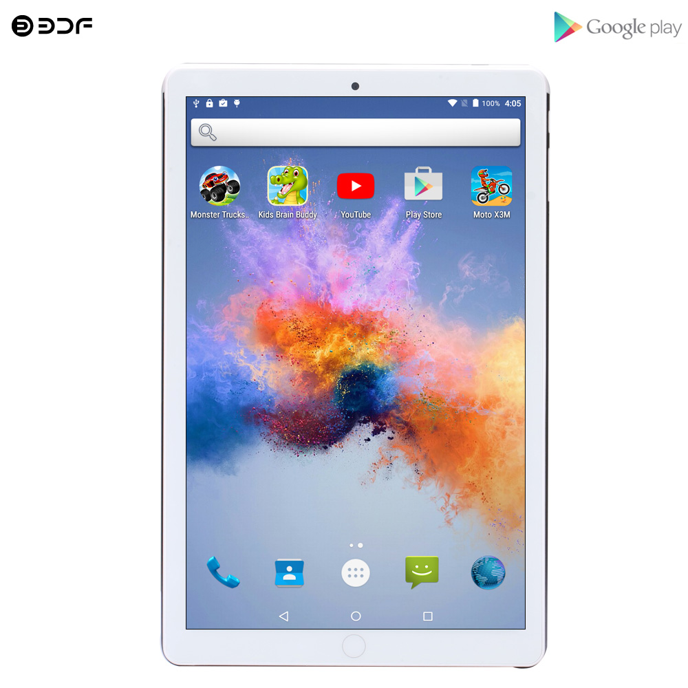 2020 New 10.1 Inch Tablet Pc Quad Core Android 7.0 Tablets 1GB+32GB WiFi GPS Bluetooth IPS Screen 3G Phone Call 10 Inch Tab