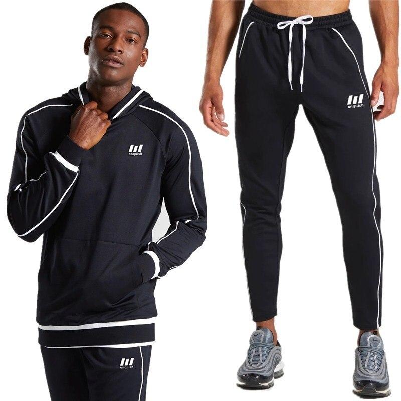 Mens Tracksuit Set  Man Fashion Hoodie Set Two Piece Set Agasalho Masculino Esportivo Conjunto Pocket Spring And Autumn Hoodie