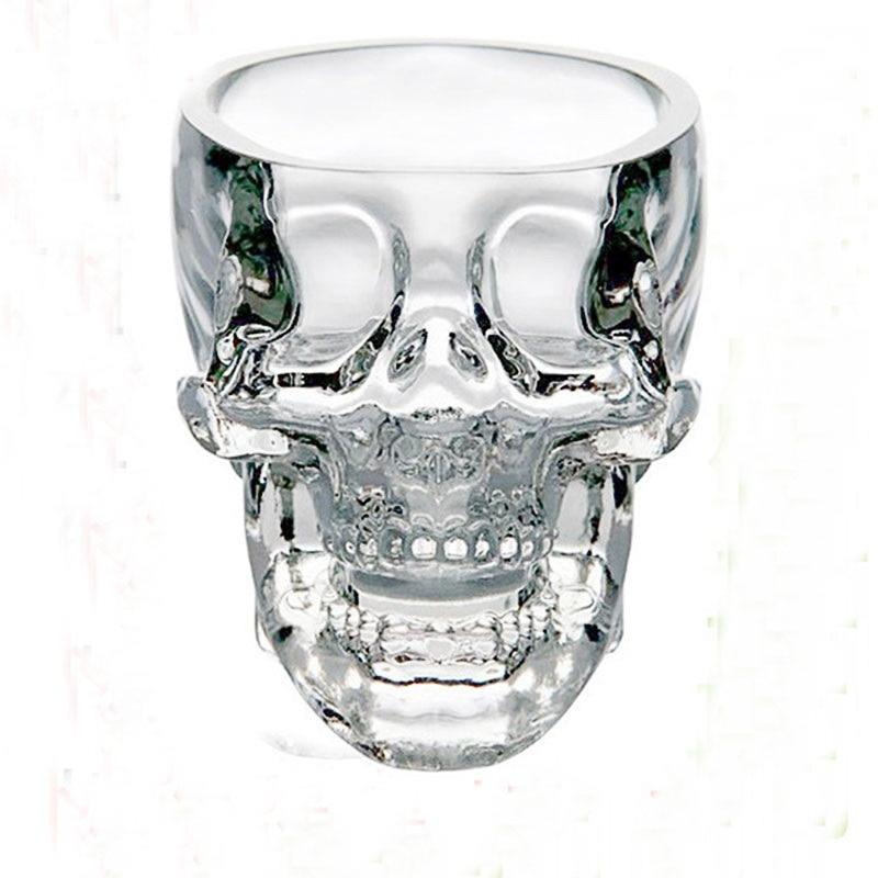 75ML Creative Skull Head Double Wall Wine Glass Mug Crystal Beer Whiskey Shot Glass Cup Vodka Drinking Bar Club Wine Glasses