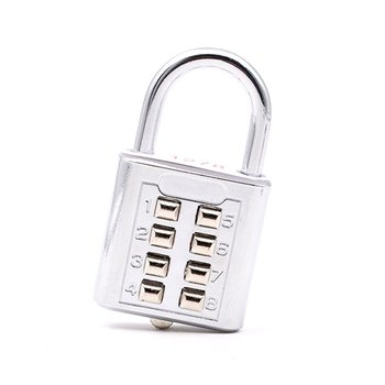Electroplating Stainless Waterproof Blind Password Lock 8 Bit Button Lock 4 Password Fixed Gym Cabinet U08S|Electric Lock| |  -