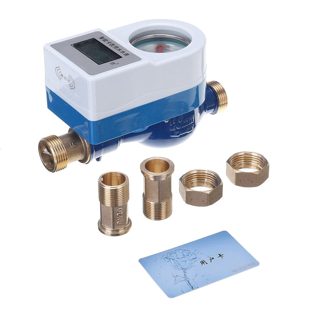 Compteur d'eau froide intelligent sans fil robinet de mesure en cuivre outils de jardin maison compteur rotatif compteur d'eau froide Table de mesure 15/20mm