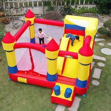 Trampoline Slide Castle-Games Inflatable House Blower Kids YARD PVC with Oxford Bouncy