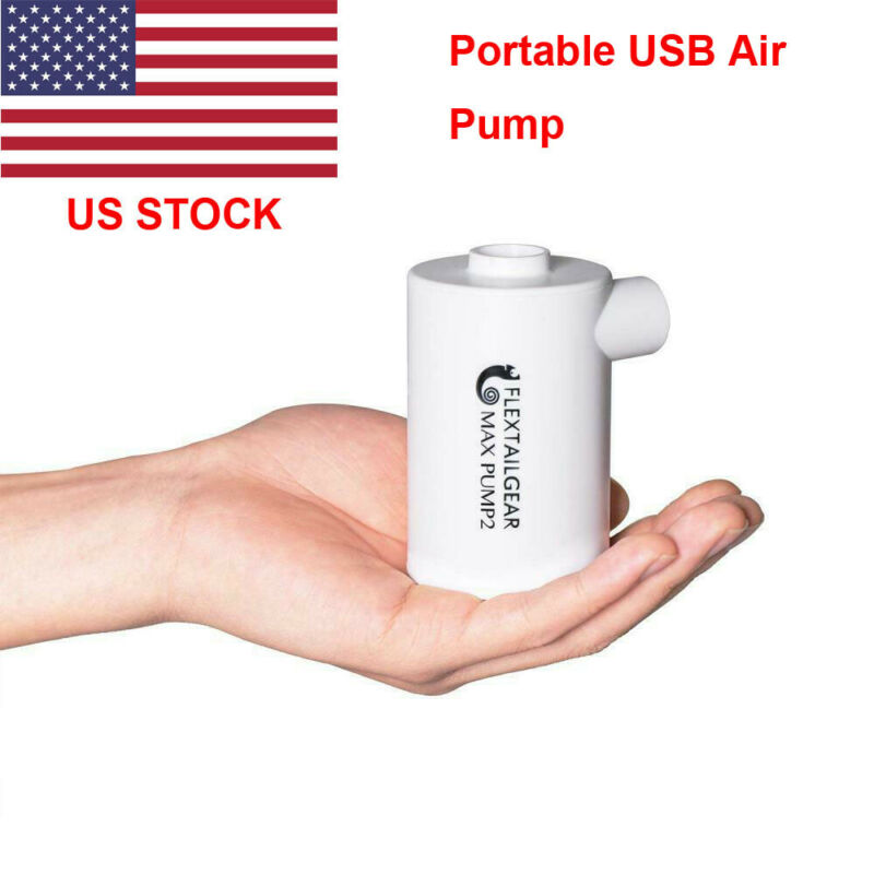 Portable Air Pump USB Power Electric Quick Inflate Deflate Swimming Pool Air Bed