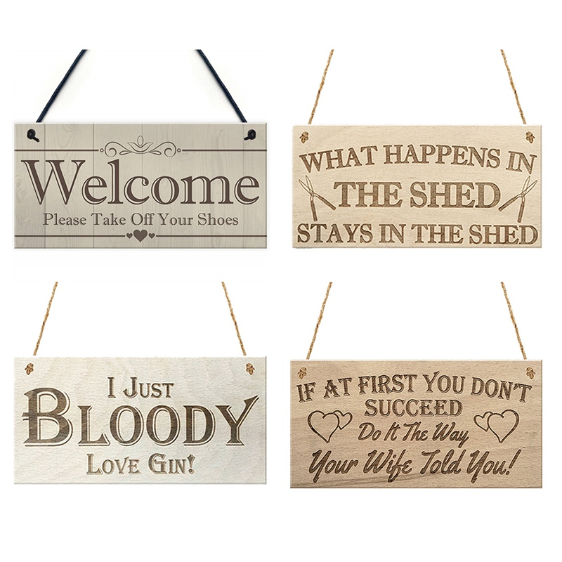 What Happens In The Shed Wodden Hanging Plaque Welcome Please Take Off Your Shoes Hanging Plaque Sign House Porch Decor Gift image