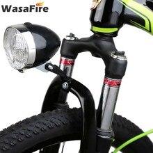 WasaFire Retro bicicleta luz 3 LED Vintage bicicleta faro impermeable camino MTB cabeza lámpara clásica ciclismo niebla lámpara de seguridad