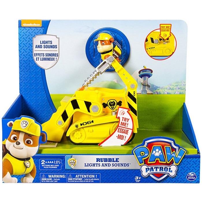 С принтом из мультфильма «Щенячий патруль набор игрушек для Everest трекер фигурку собаки из мультфильма «Щенячий патруль» для дня рождения с рисунком из аниме Рисунок патруль Paw patrulla canina, игрушка в подарок - Цвет: rubble