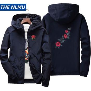 2019 Rose Embroidery Thin Jackets Men Women Streetwear Polyester Jacket Coat Hip Hop Casual Autumn Windproof  Plus Size HA71