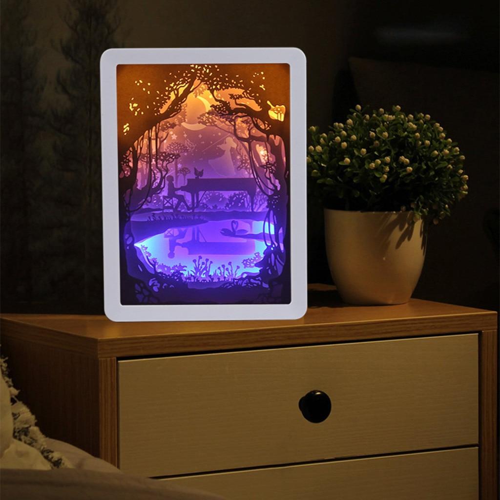 Small Night LightNEW Product Light Shadow Paper Carved Lights DIY Creative Remote Control  Hot Sale Lampki Led Dekoracje^35