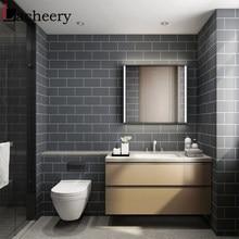 Papier peint vinyle adhésif en rouleau imitation carrelage, revêtement autocollant imperméable pour dosseret de cuisine, toilettes et salle de bains en style européen