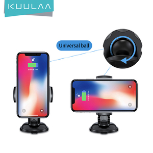 KUULAA Car Phone Holder Universal Sucker Stand 360° Rotation GPS Mobile Phone Support Holder Car Mount For iPhone Samsung Xiaomi