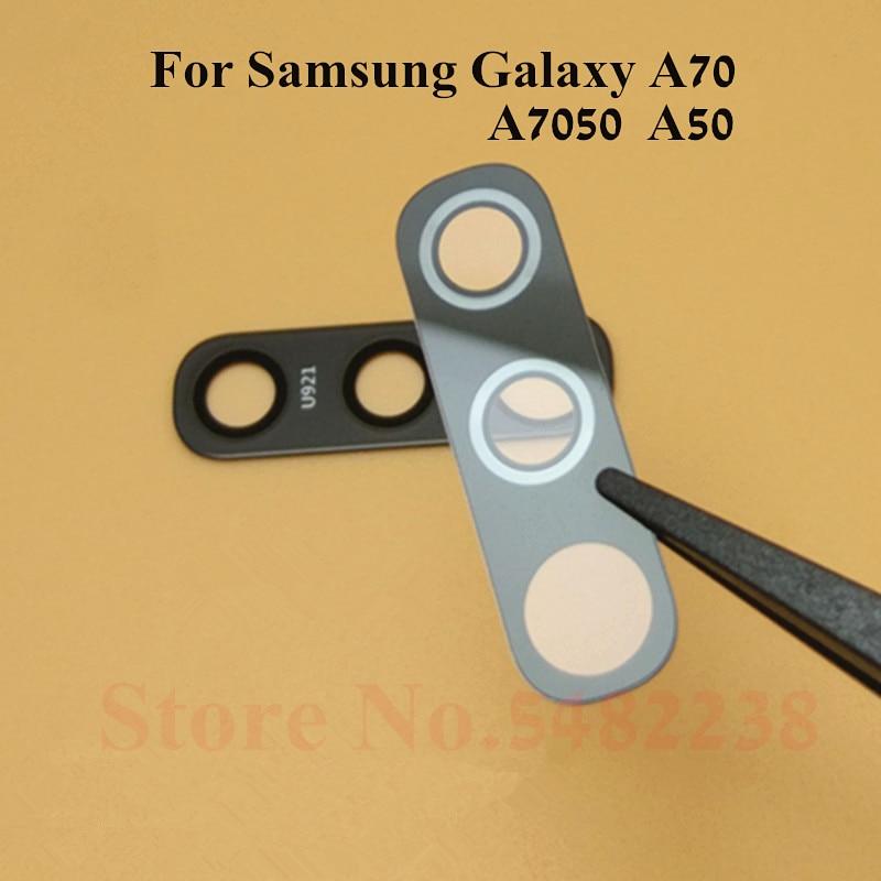 2pcs Original Camera Glass Lens Cover For Samsung Galaxy A70 A7050 A50 A80 Rear Back Camera Outside Glass Lens With Stickers