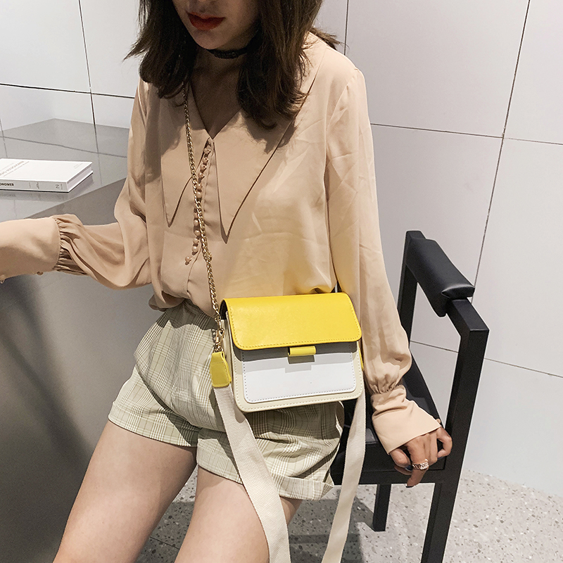 Bags for Women 2019 New Fashion Chain Leather Women Shoulder Bag Korean Style Messenger Bag Women in Shoulder Bags from Luggage Bags