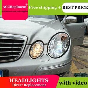 Image 3 - For Benz W211 2003 2009 Headlights All LED Headlight DRL Dynamic Signal Hid Head Lamp Bi Xenon Beam Accessories Car Styling