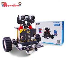 Графический программируемый робот-автомобиль с Bluetooth IR и трекинговым модулем, паровой робот-игрушка для микро: бит BBC Kit