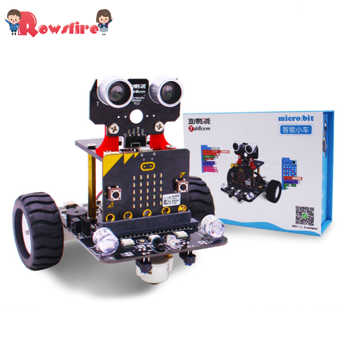 Graphical Programmable Robot Car With Bluetooth IR And Tracking Module Stem Steam Robot Car Toy For Micro:bit BBC Kit