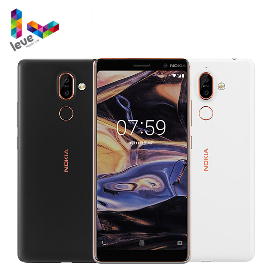 Galleria fotografica Sbloccato <font><b>Nokia</b></font> 7 Plus. Android Smartphone 4GB di RAM 64G ROM Snapdragon 660 Octa-Core 6.0 ''Display bluetooth 5.0 Cellulare Originale
